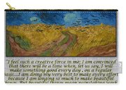 Van Gogh Motivational Quotes - Wheatfield With Crows II Carry-all Pouch
