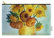 van Gogh Sunflowers in watercolor Carry-all Pouch