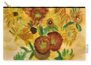 van Gogh's Sunflowers in Watercolor Carry-all Pouch