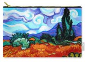 Van Goghs Wheat Field With Cypress Carry-all Pouch