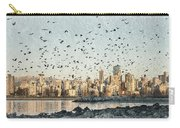 Vancouver Skyline With Crows Carry-all Pouch