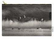 Vancouver Skyline With Fog Over English Bay Carry-all Pouch