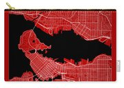Vancouver Street Map - Vancouver Canada Road Map Art On Color Carry-all Pouch