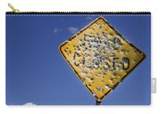 Vandalized Road Sign Many Bullet Holes Carry-all Pouch
