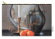 Vanitas Still Life By Candlelight With Clementines 1 Carry-all Pouch