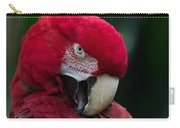 Vanity-close Up Of A Green Winged Macaw Carry-all Pouch
