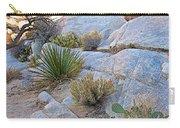 Varied Desert Flora Along Barker Dam Trail In Joshua Tree Np-ca Carry-all Pouch