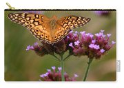 Variegated Fritillary Butterfly Square Carry-all Pouch
