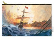 Vasco Da Gama's Ships Rounding The Cape Carry-all Pouch by English School