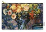 Vase Of Flowers Carry-all Pouch by Theo van Rysselberghe