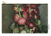 Vase Of Hollyhocks Carry-all Pouch