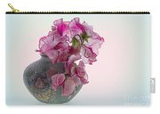 Vase Of Pretty Pink Sweet Peas 2 Carry-all Pouch