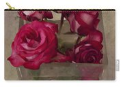 Vase Of Roses Carry-all Pouch