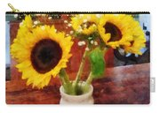 Vase Of Sunflowers Carry-all Pouch