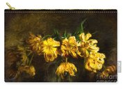 Vase Of Yellow Tulips Carry-all Pouch