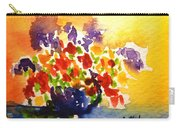 Vase With Multicolored Flowers Carry-all Pouch