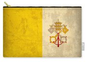 Vatican City Flag Vintage Distressed Finish Carry-all Pouch