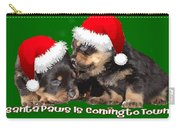 Vector Santa Paws Is Coming To Town Christmas Greeting Carry-all Pouch