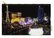 Vegas At Night Carry-all Pouch by Barbara Chichester