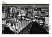 Vegas Black And White Carry-all Pouch