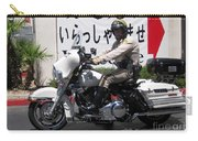 Vegas Motorcycle Cop Carry-all Pouch by John Malone