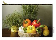 Vegetables And Aromatic Herbs In The Kitchen Carry-all Pouch