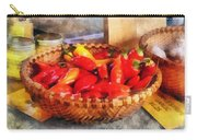 Vegetables - Hot Peppers In Farmers Market Carry-all Pouch