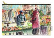 Vegetables Seller In A Provence Market Carry-all Pouch
