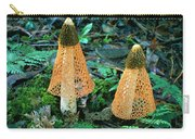 Veiled Lady Mushrooms Carry-all Pouch by Glen Threlfo