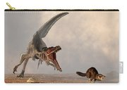 Velociraptor Chasing Small Mammal Carry-all Pouch