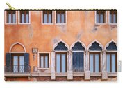 Venetian Building Wall With Windows Architectural Texture Carry-all Pouch