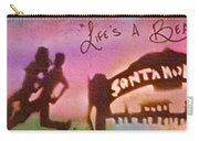 Venice Beach To Santa Monica Pink Carry-all Pouch