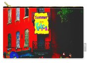 Venice Cafe' Painted And Edited Carry-all Pouch