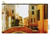 Venice Italy Canal With Boats And Laundry Carry-all Pouch
