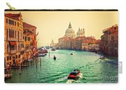Venice Italy Grand Canal And Basilica Santa Maria Della Salute At Sunset Carry-all Pouch
