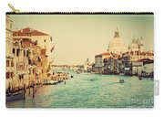 Venice Italy  Grand Canal In Vintage Style Carry-all Pouch