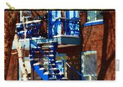 Verdun Duplex Stairs With Birch Tree Montreal Winding Staircases Winter City Scene Carole Spandau Carry-all Pouch