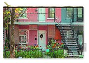 Verdun Flower Boxes Pink House Fenced Front Garden Red Flowers Staircase Scenes Carole Spandau Carry-all Pouch