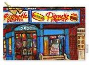 Verdun Restaurants Pierrette Patates Pizza Poutine Pepsi Cola Corner Cafe Depanneur - Montreal Scene Carry-all Pouch