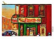 Verdun Street Hockey Pierrettes Restaurant Rue 3900 Verdun -landmark Montreal Hockey Art Work Scenes Carry-all Pouch