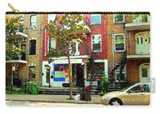 Verdun Variety Store Summer Street Scene Montreal Depanneur Double Staircases Carole Spandau Carry-all Pouch