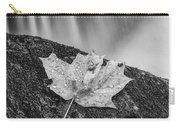 Vermont Autumn Maple Leaf Black And White Carry-all Pouch