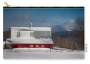 Vermont Barn In Snow With Mountain Behind Carry-all Pouch