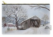 Vermont Covered Bridge In Winter Carry-all Pouch