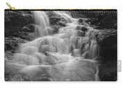 Vermont Forest Waterfall Black And White Carry-all Pouch
