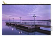 Vermont Lake Champlain Sunrise Clouds Fishing Pier Carry-all Pouch