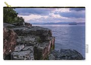 Vermont Lake Champlain Sunset Clouds Shoreline Carry-all Pouch