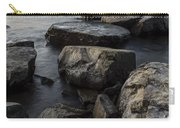 Vermont Lake Champlain Sunset Cloudscape Rocks Carry-all Pouch