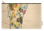 Vermont Map Vintage Watercolor Carry-all Pouch