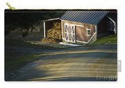 Vermont Maple Sugar Shack Sunset Carry-all Pouch by Edward Fielding
